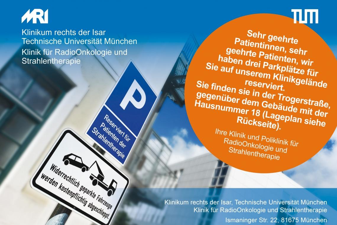 Flyer Patientenparkplätze RadioOnkologie